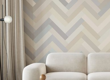 Other wall decoration - Herringbone Mural Wallpaper - ALL THE FRUITS