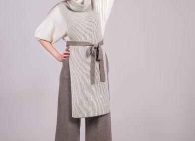 Prêt-à-porter - Gilet avec ceinture en cachemire de Мongolia - AZZA DESIGN STUDIO ORGANIC CASHMERE MONGOLIE