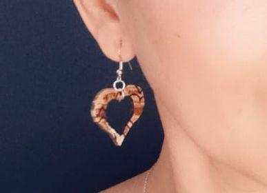 Bijoux - Boucles d'oreilles faites à Partir de feuilles de Palmiers - ARECABIO
