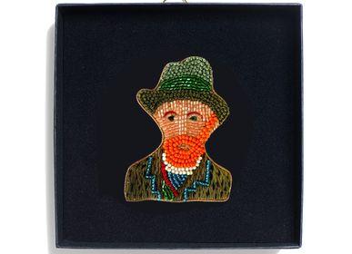 Autres décorations murales - Broche Van Gogh - HELLEN VAN BERKEL HEARTMADE PRINTS