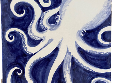 Céramique - Magnifique plateau mural et service en céramique peint à la main cm40x40 - CERASELLA CERAMICHE