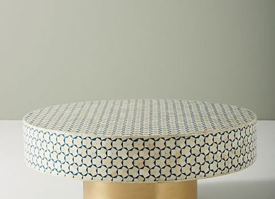 Decorative objects - Handcrafted Bone Coffee Table ( Round )  - SS EXPORTS