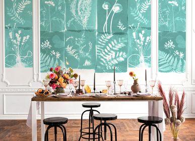 Other wall decoration - Wallpanel Cyanotype Fleurs Des Champs Menthe à l'Eau - PAPERMINT