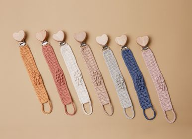 Childcare  accessories - Pacifier Strap Organic-Cotton - PATTI OSLO FRANCE