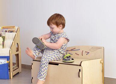 Chambres d'enfants - Pepetta Porte-chaussures pour enfant avec cadre à cravates Montessori - NINIDESIGN