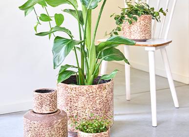 Ceramic - FRACTURE indoor ceramic pot  - D&M DECO