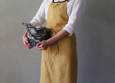 Kitchen linens - 100% Linen Apron, Mila - LINO E LINA