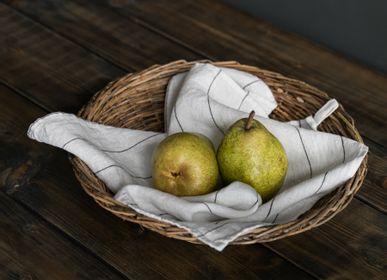 Table linen - 100% Linen, Square kitchen towel / Napkins - LINO E LINA