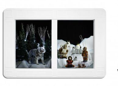 Guirlandes et boules de Noël - AUTOMATES DE L'UNIVERS POLAIRE: Ours polaires, animaux de la banquise. - ATELIER MICHEL TAILLIS