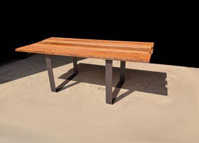 Piscines extérieures - Table Grand modèle en U base en bois durable - LIVING MEDITERANEO