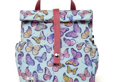Cadeaux - Butterfly Original Sac Lunchbag pour enfant avec rose  - THE LUNCHBAGS