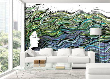 Papiers peints - Papier peint Profil et Cheveux de mer  - INCREATION