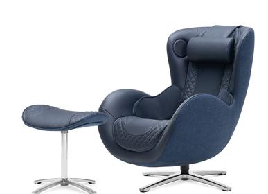 Assises pour bureau -  NOUVEAU FAUTEUIL DE MASSAGE CLASSIQUE - Bleu nuit - NOUHAUS