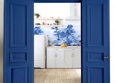 Floral decoration - Wallpanel Bamboulino Crique Bleu abysse - PAPERMINT