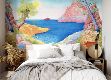 Other wall decoration - Wallpanel Bamboulino Plage Sorbet fraise - PAPERMINT