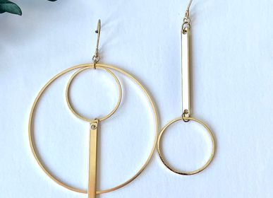 Jewelry - Earrings gilded with fine gold.  - NAO JEWELS