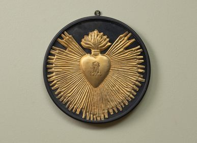 Decorative objects - Golden ex voto in round frame to hang - CHEHOMA