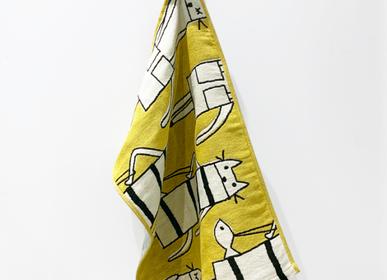 Linge de table textile - Serviette de gazeR CAT IN NY couleur Y(jaune) - ATSUKO MATANO PARIS