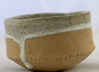 Bowls - Milky Way Strip Bowl  1000ml - ANNE KRIEG, CERAMISTE