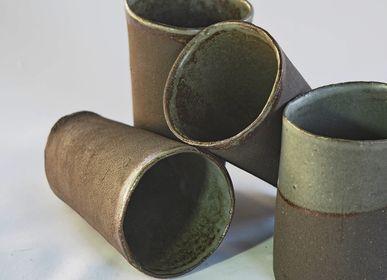 Mugs - Black Stoneware Tumbler - ANNE KRIEG, CERAMISTE