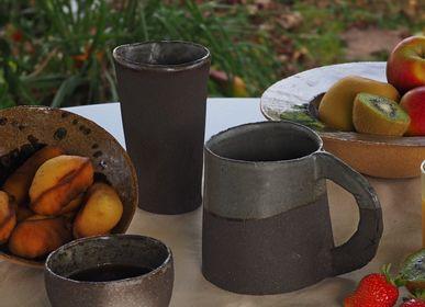 Tasses et mugs - Gobelet Grès Noir - ANNE KRIEG, CERAMISTE