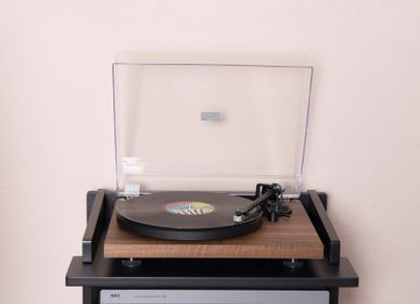 Console table - Crosley Soho record player stand & vinyl storage Black - CROSLEY RADIO