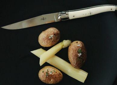 Couteaux - Couteaux de table brillants en os, coffret de 6 - FORGE DE LAGUIOLE