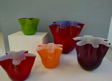 Verre d'art - Vase en verre «Fazzoletto Incamiciato» - VETRERIA MURANO DESIGN