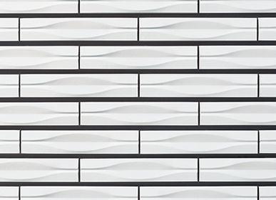 Faience tiles - Yumon - Porcelain Tiles - RAVEN - JAPANESE TILES