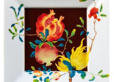 Platter and bowls - Harmonia -  Trinket tray brown background - RAYNAUD