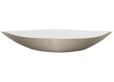 Platter and bowls -  Minéral Irisé - Deep dish warm grey 58 - RAYNAUD