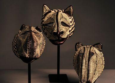 Decorative objects - Unique shamanic Masks  - ETHIC & TROPIC CORINNE BALLY