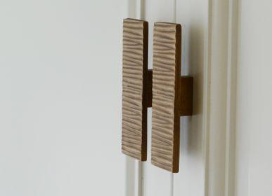 Artistic hardware - Rectangle handle striped - THEA