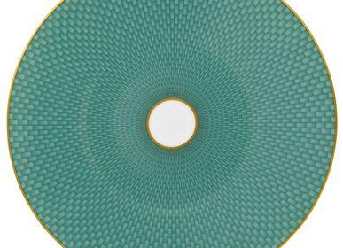 Formal plates - Trésor - Coupe plate flat motive n°2 turquoise 22 - RAYNAUD
