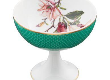 Bols -  Trésor Fleuri - Coupe à glace Magnolia turquoise 11 - RAYNAUD