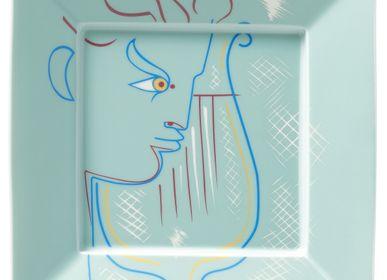 Gifts -  Jean Cocteau - Square trinket tray Orphée à la Lyre green 17 - RAYNAUD