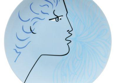 Objets de décoration -  Cocteau - Assiette plate coupe Protée bleu 21 - RAYNAUD