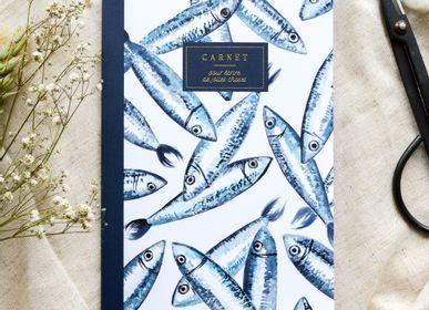 Stationery - Notebook A5 - Sardines - BLEU COQUILLE