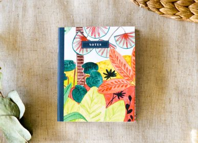 Stationery - Small Notebook - Tropical Atmosphere - BLEU COQUILLE