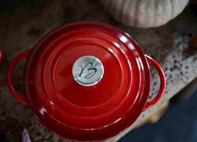 Mugs - LEGUMIER TRADITION EN FONTE EMAILLEE ROUGE DEGRADE - BAUMALU