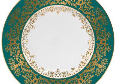Formal plates -  Chelsea - Rim plate flat turquoise 27 - RAYNAUD