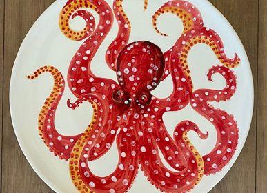 Kitchen utensils - Wonderful hand-painted ceramic wall plate cm 40  - CERASELLA CERAMICHE