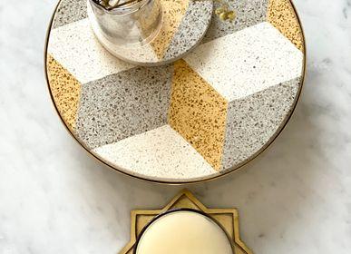 Design objects - Tiled Round Platter Diamond Pattern - ASMA'S CRAFTS