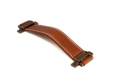 Artistic hardware - Handle in leather - THEA