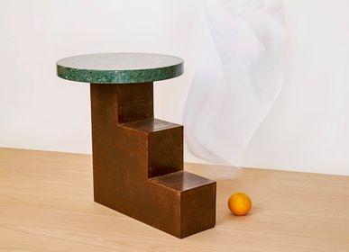 Tables basses - Table auxilière ESCALIER 1- 2- 3 fer - VAN DEN HEEDE-FURNITURE-ART-DESIGN