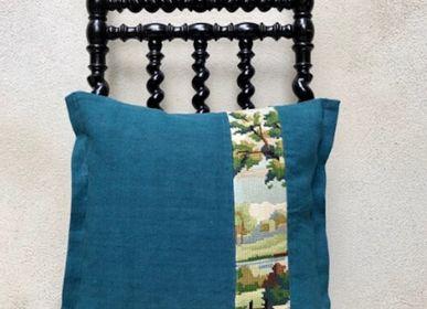 "Fabric cushions - Canvas cushion ""the lake"" - 30x40cm - L'ATELIER DES CREATEURS"