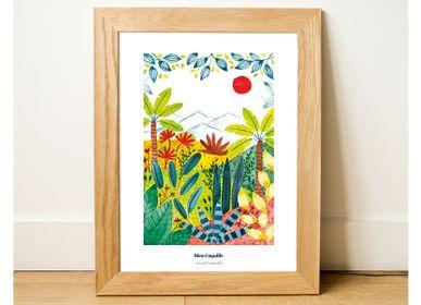 Affiches - Affiche 30x40 - Beautés Végétales - BLEU COQUILLE
