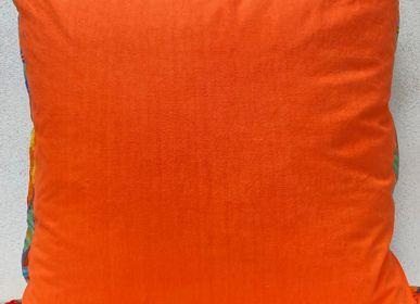 """Fabric cushions - Nomad Cushion """"Fire Orange"""" - 80 x 80cm - L'ATELIER DES CREATEURS"""