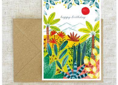 Card shop - Postcard - Vegetal Beauties - BLEU COQUILLE
