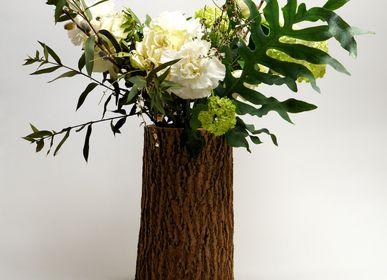Vases - ROCKY wooden vase (waterproof) - WOOD MOOD